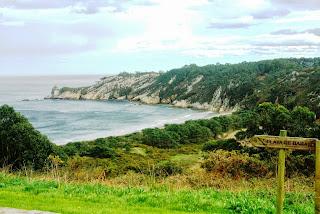 playa de Barayo, vista desde el aparcamiento