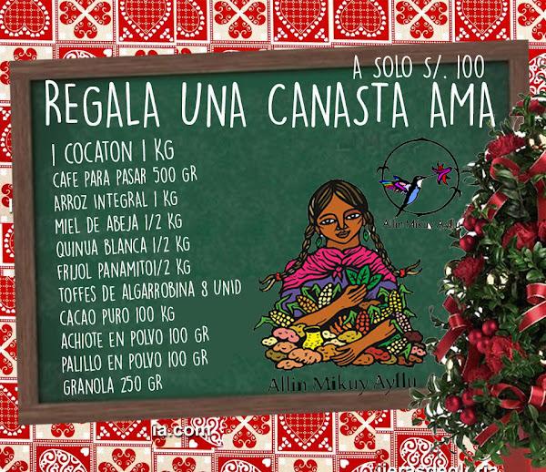 YA ESTÁ A LA VENTA LA CANASTA DE NAVIDAD ¡COMPRE CASERITA, COMPRE CASERITO!