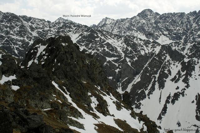 Widok na Przybylińską Przełęcz Wyżnią
