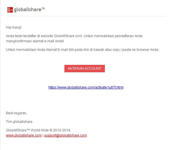 Verifikasi Akun GlobAllShare