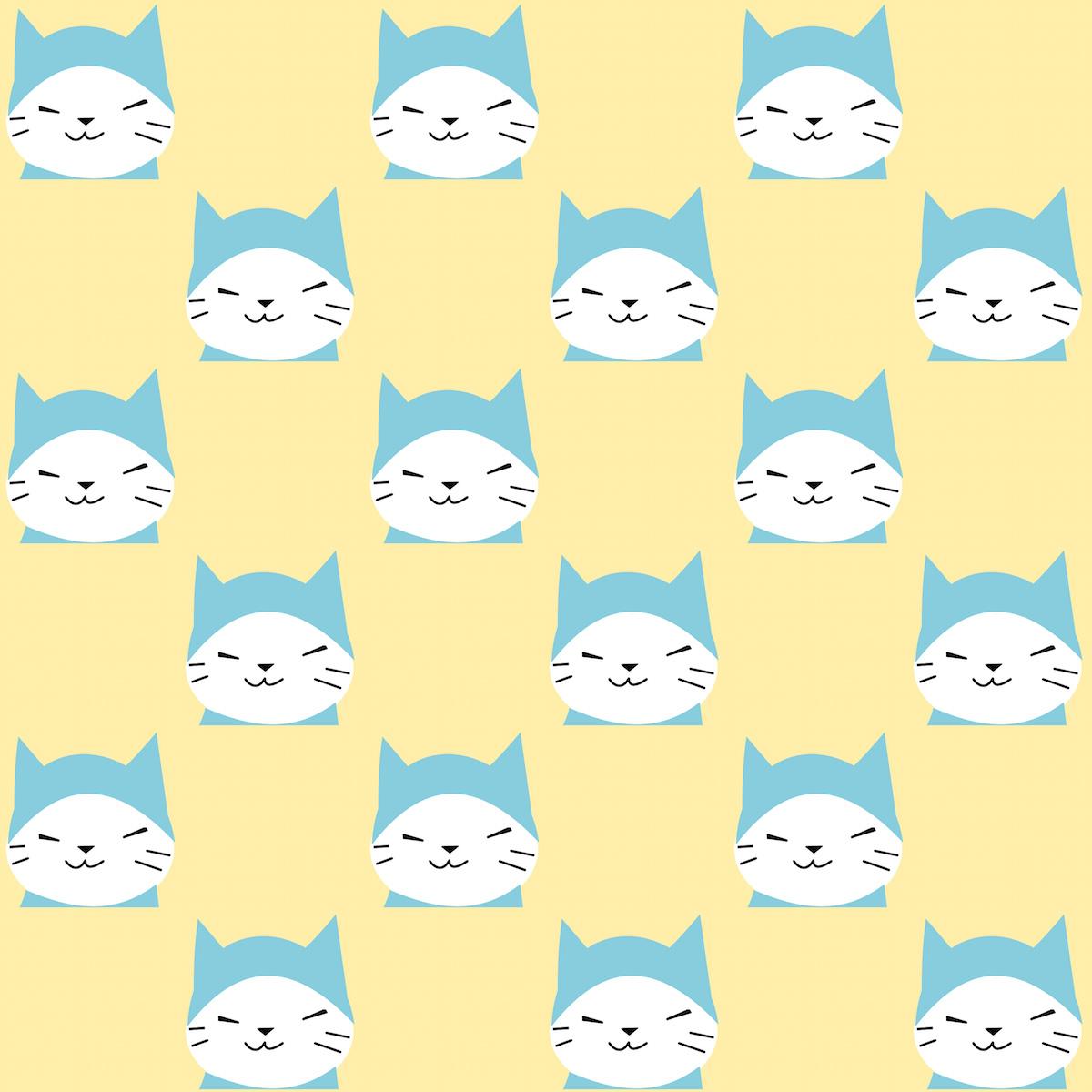 Scrapbook paper kawaii - Free Digital Kawaii Cat Scrapbooking Paper Ausdruckbares Geschenkpapier Freebie