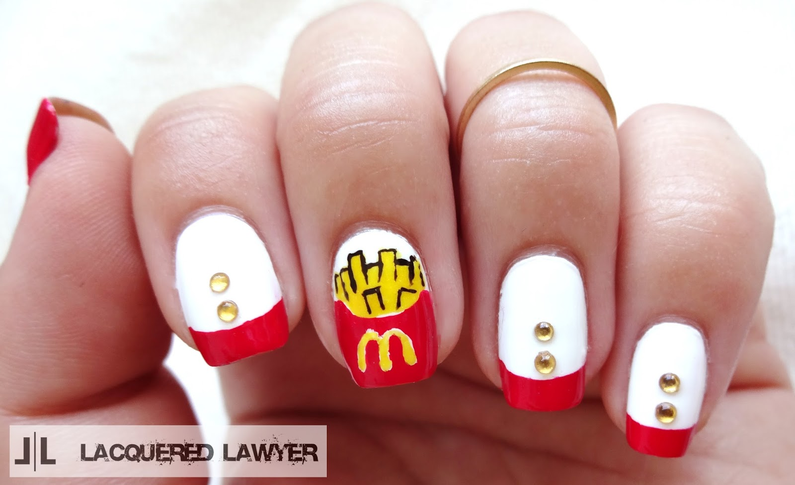 Lacquered Lawyer | Nail Art Blog: McDonald\'s I\'m Lovin\' It