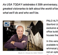 Interviewed some of the USA's greatest visionaries to talk about the world of tomorrow