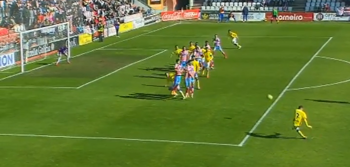 0-1 Gol de Nauzet Alemán de falta directa