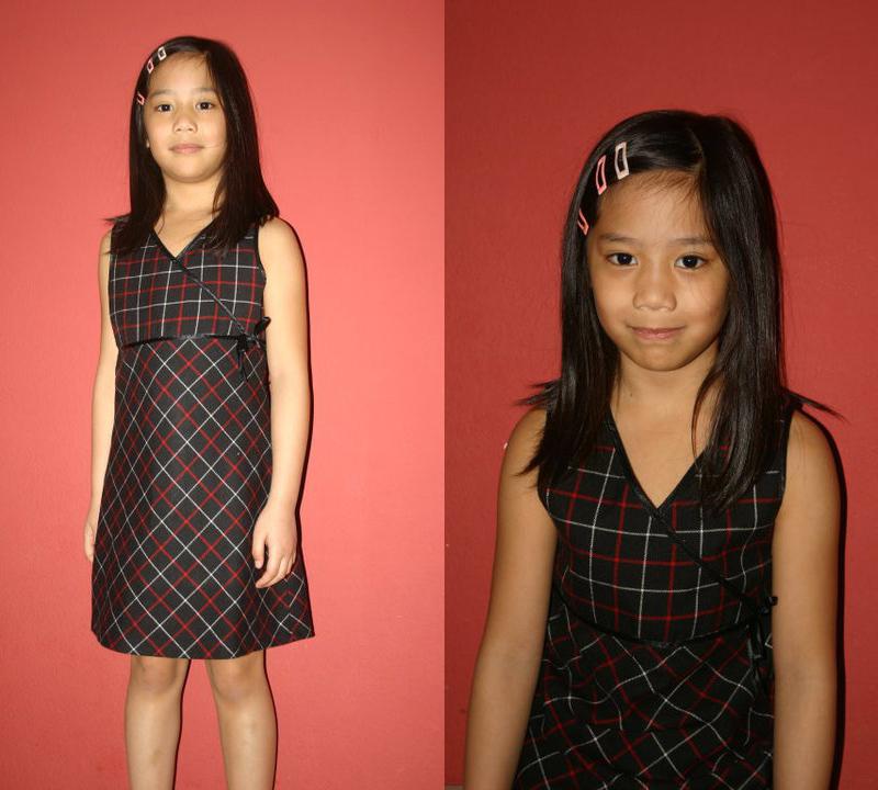 Checkered Pinafore dress