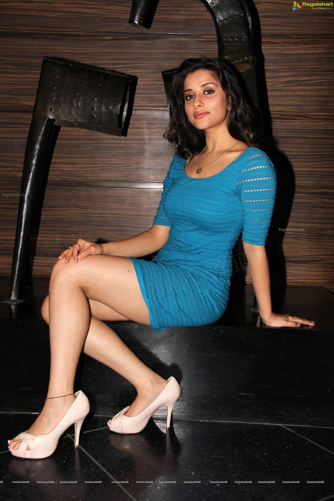Madhurima Looks Hot in Tight Blue Mini