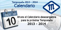 Calendario Temporada 2013 - 2014