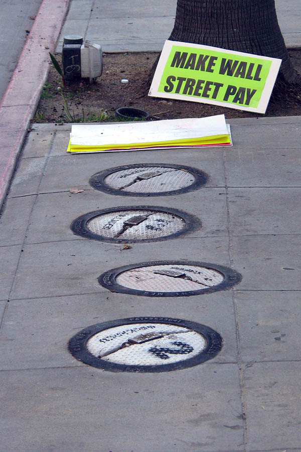 Occupy Los Angeles - sign: Make Wall Street Pay
