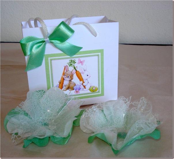 Sacola Pequena - Branca e verde