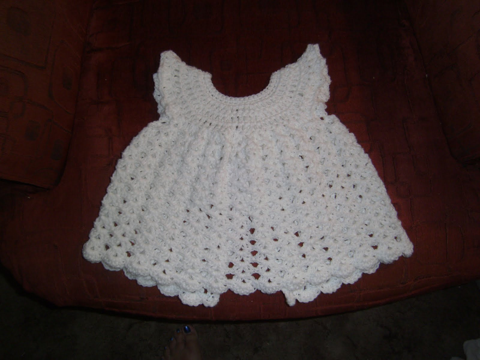 Free Crochet Pattern For Baby Angel Wings : Family, Books and Crochet...Oh My!: Angel Wings Pinafore