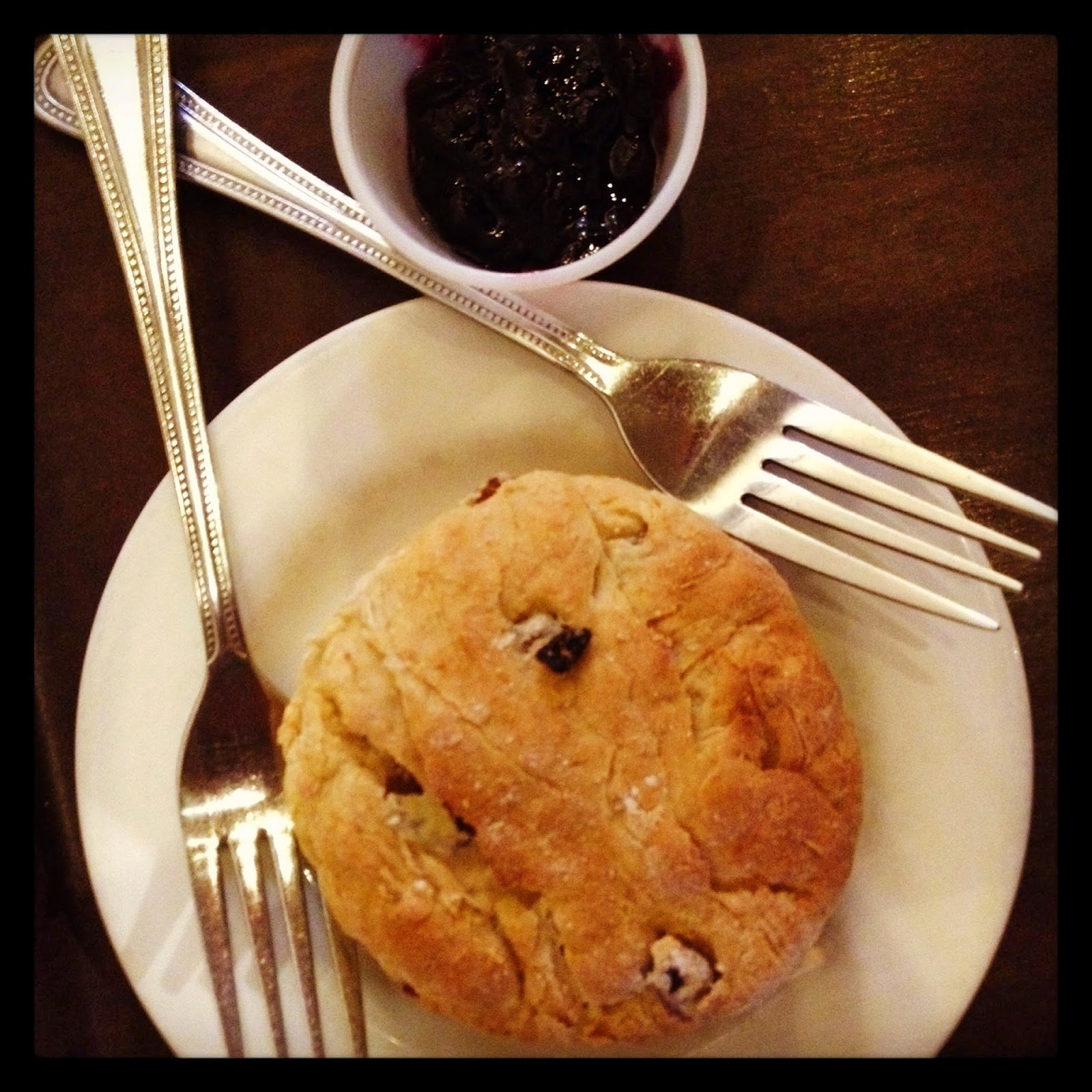 Vegetarian Vegan Scone and Jam Cornucopia Dublin, Ireland