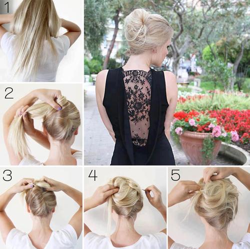 ... ELEGANTE Y FÁCIL - FOTO-TUTORIAL : Peinados y cortes de cabello