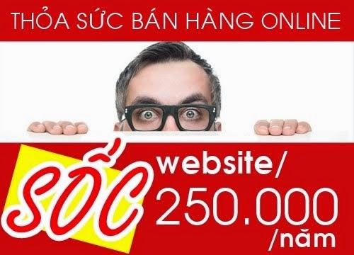 Thiết kế Website chỉ 250.000/năm - WEBGIARE365.COM