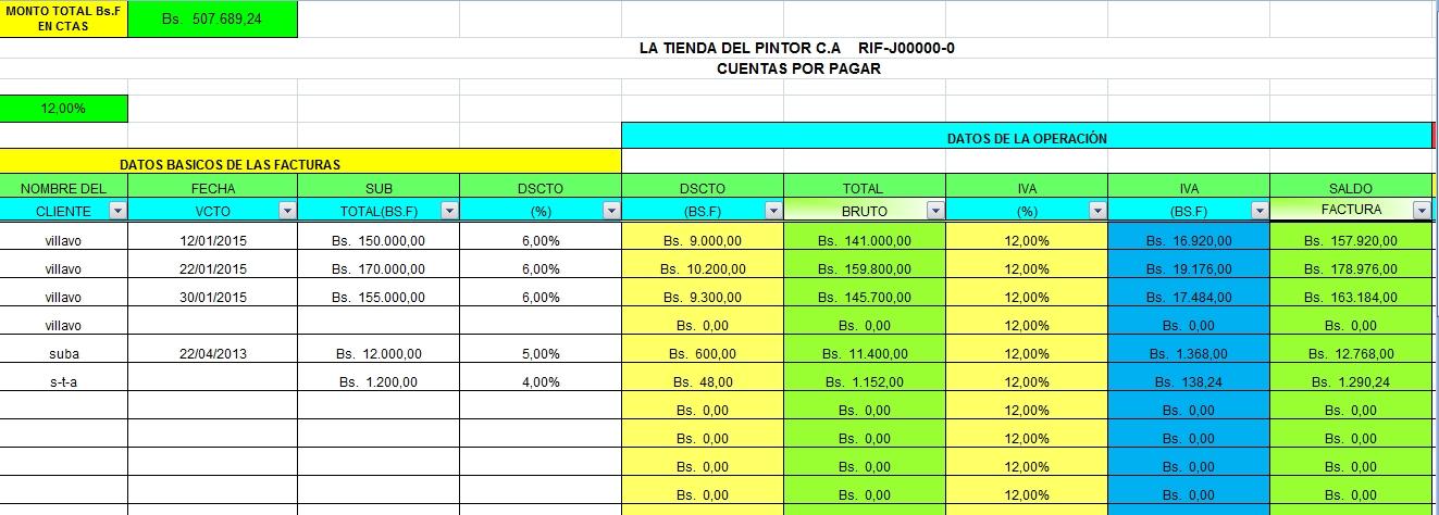 Dorable Plantilla De Cuentas De Excel Viñeta - Colección De ...