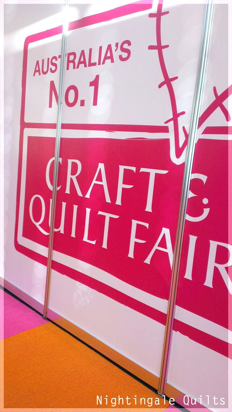 Nightingale quilts sydney craft and quilt fair 2013 for Quilt and craft show