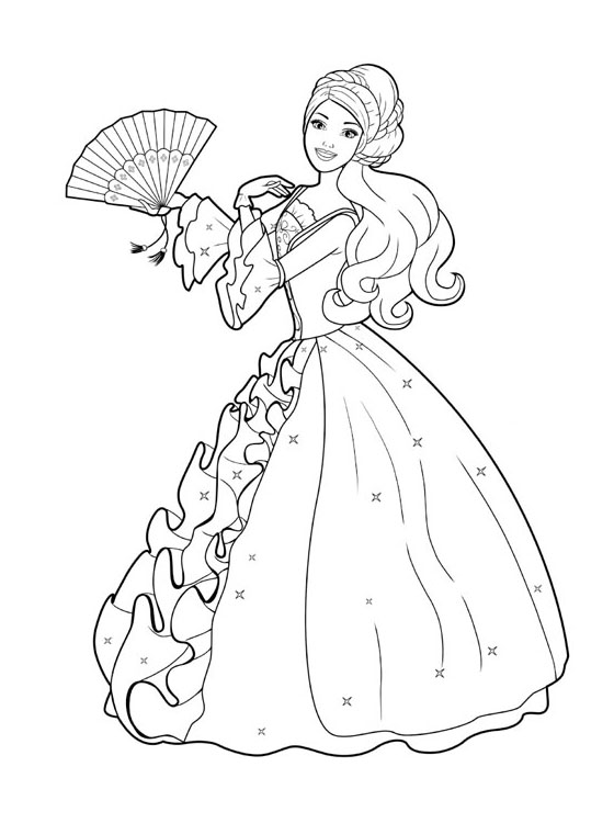 printable barbie colouring pages for kids