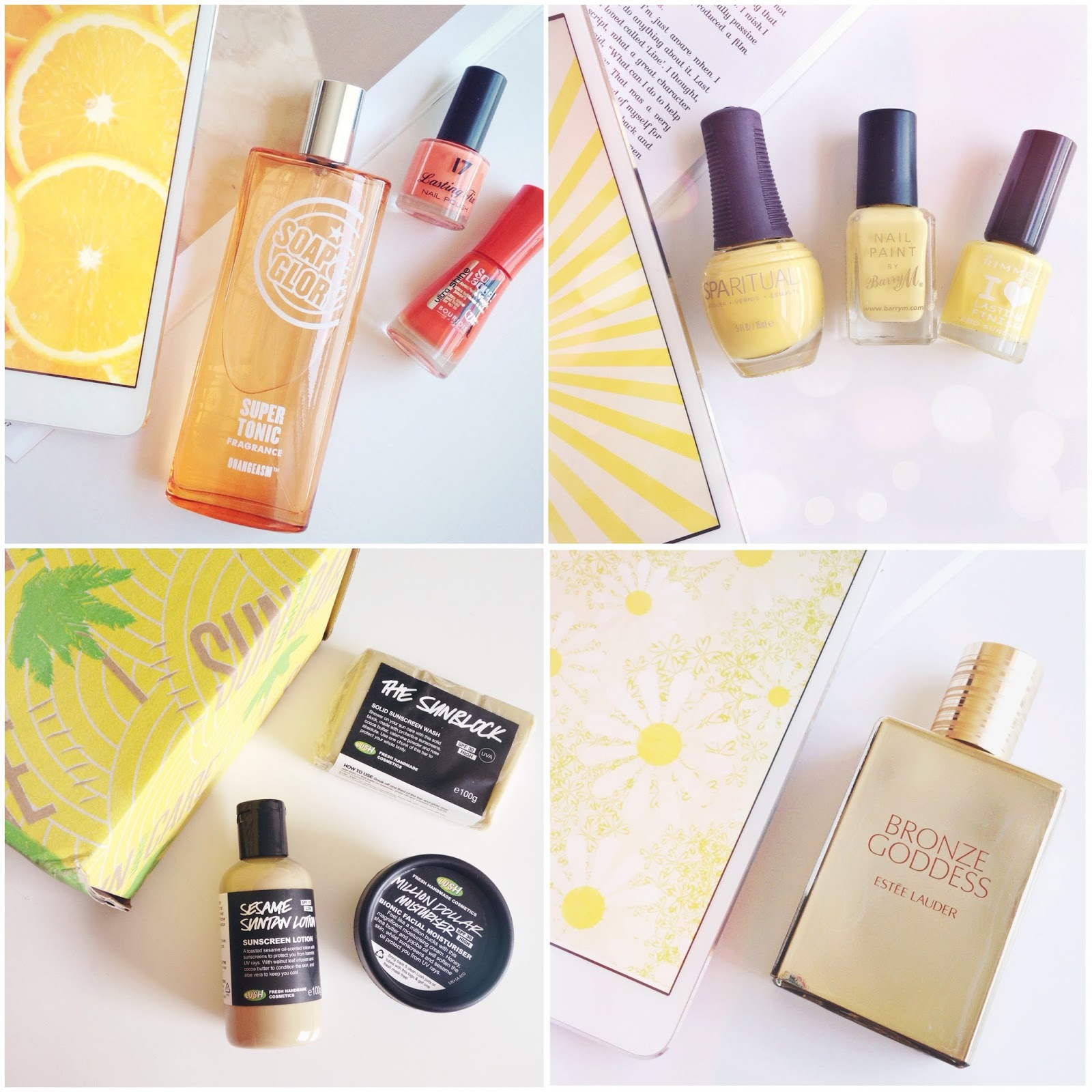 spirit of summer rekorderlig, beauty blogger, yellow beauty products