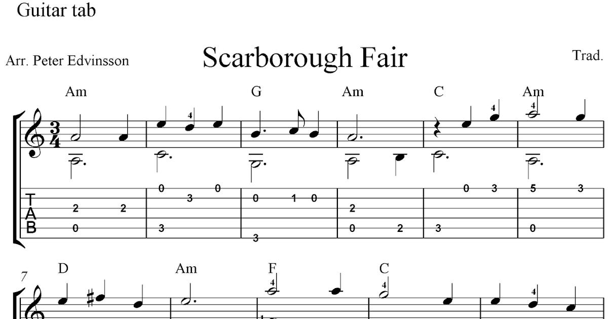 scarborough fair ukulele tab pdf