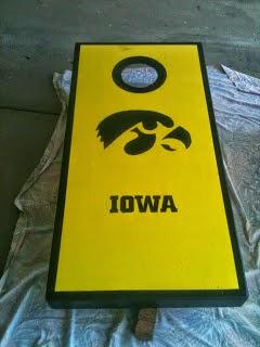 University of Iowa Bean Bag Board