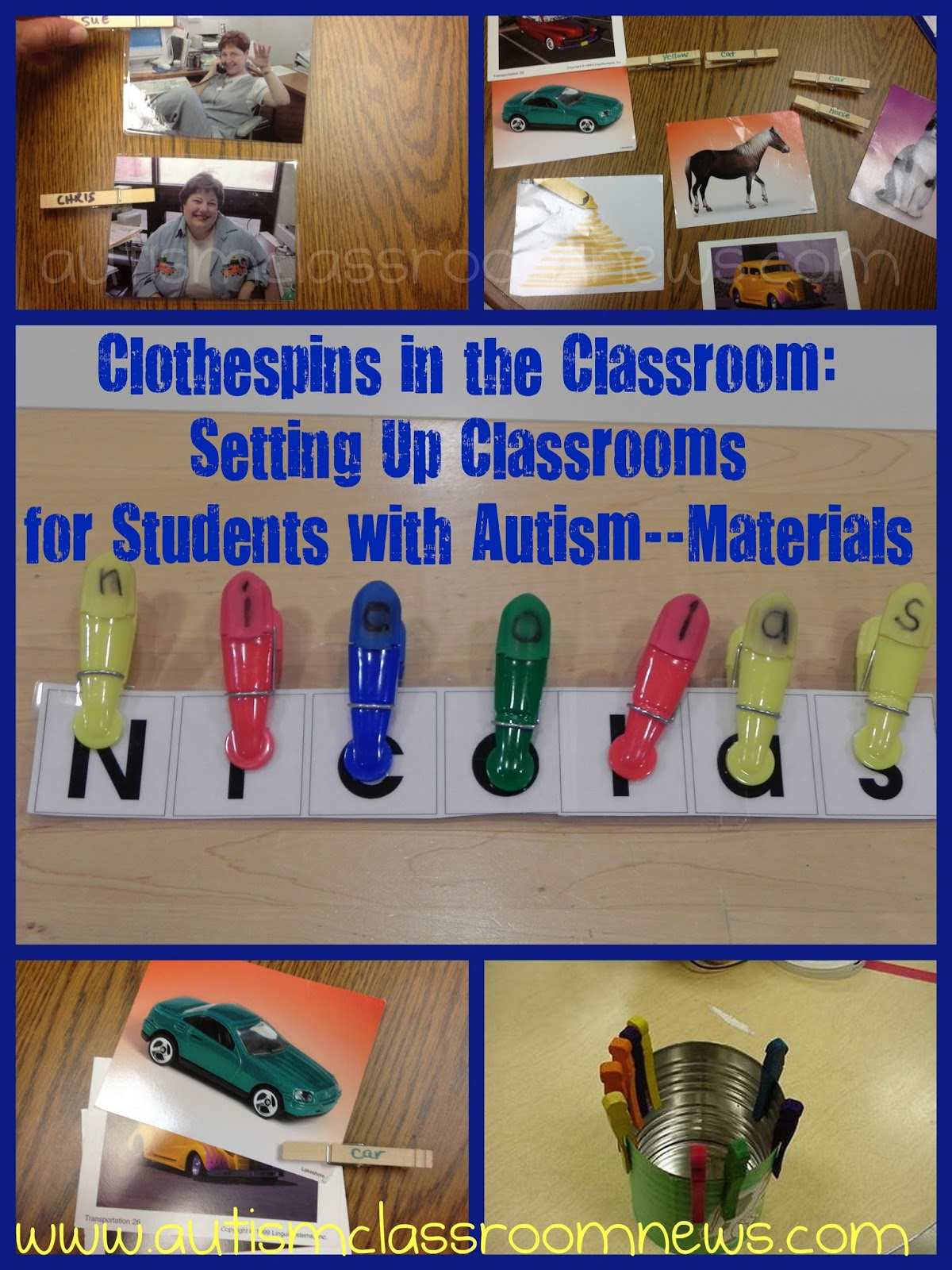 Clothespins in the classroom freebie setting up for Craft ideas for autistic students