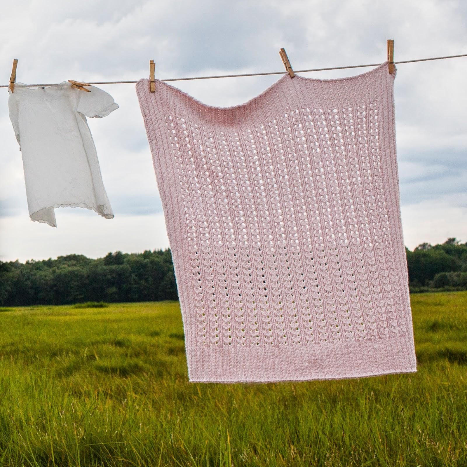 # 147 Lace Rib Blanket
