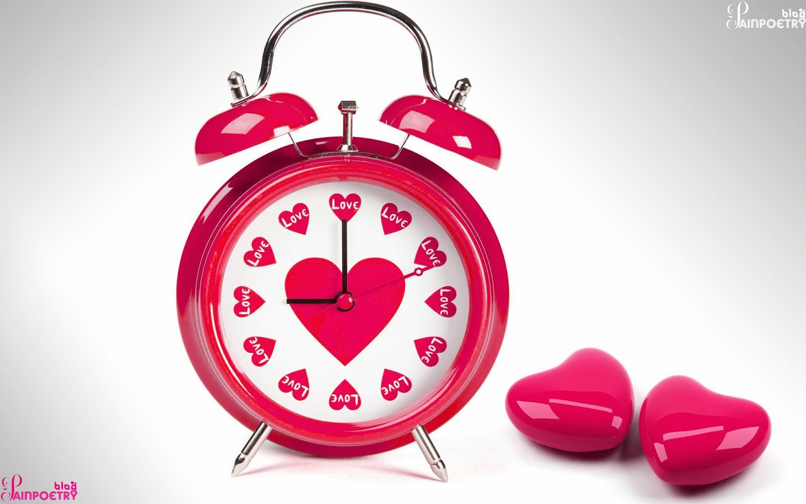 Love-Clock-Created-In-Red-With-Two-Hearts-Image-HD
