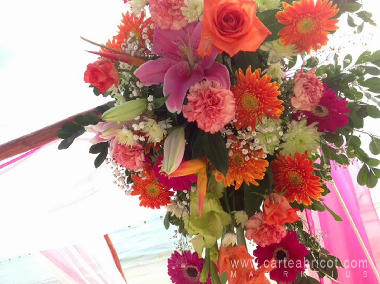 Exceptionnel MARIAGE TROPICAL | Carte Abricot Wedding Planner à l'Ile Maurice SR61