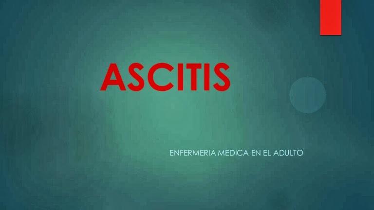 Manejo del paciente con Ascitis