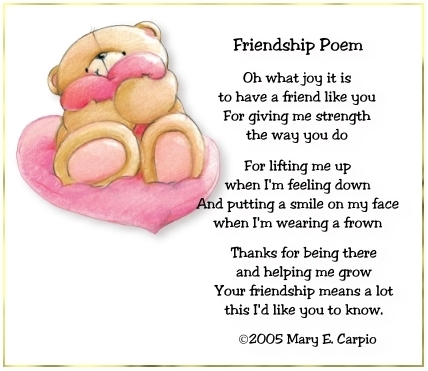 Write a poem about a friend
