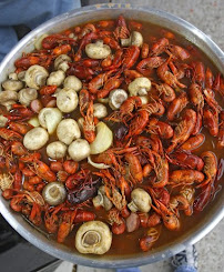 Boiling mad! We are crazy for crawfish around these parts
