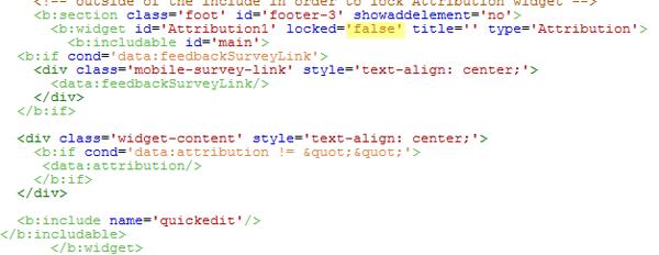 widget attribution blogger