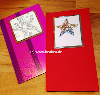Zentangle Weihnachtskarte Betweed Winkler Christmas Card Paperwork