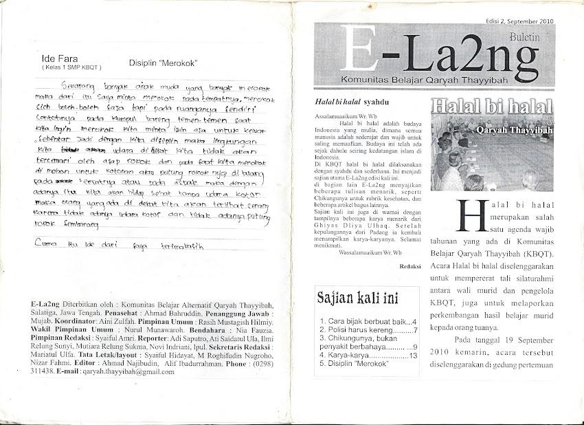 Buletin E-la2ng, edisi 9 September 2010