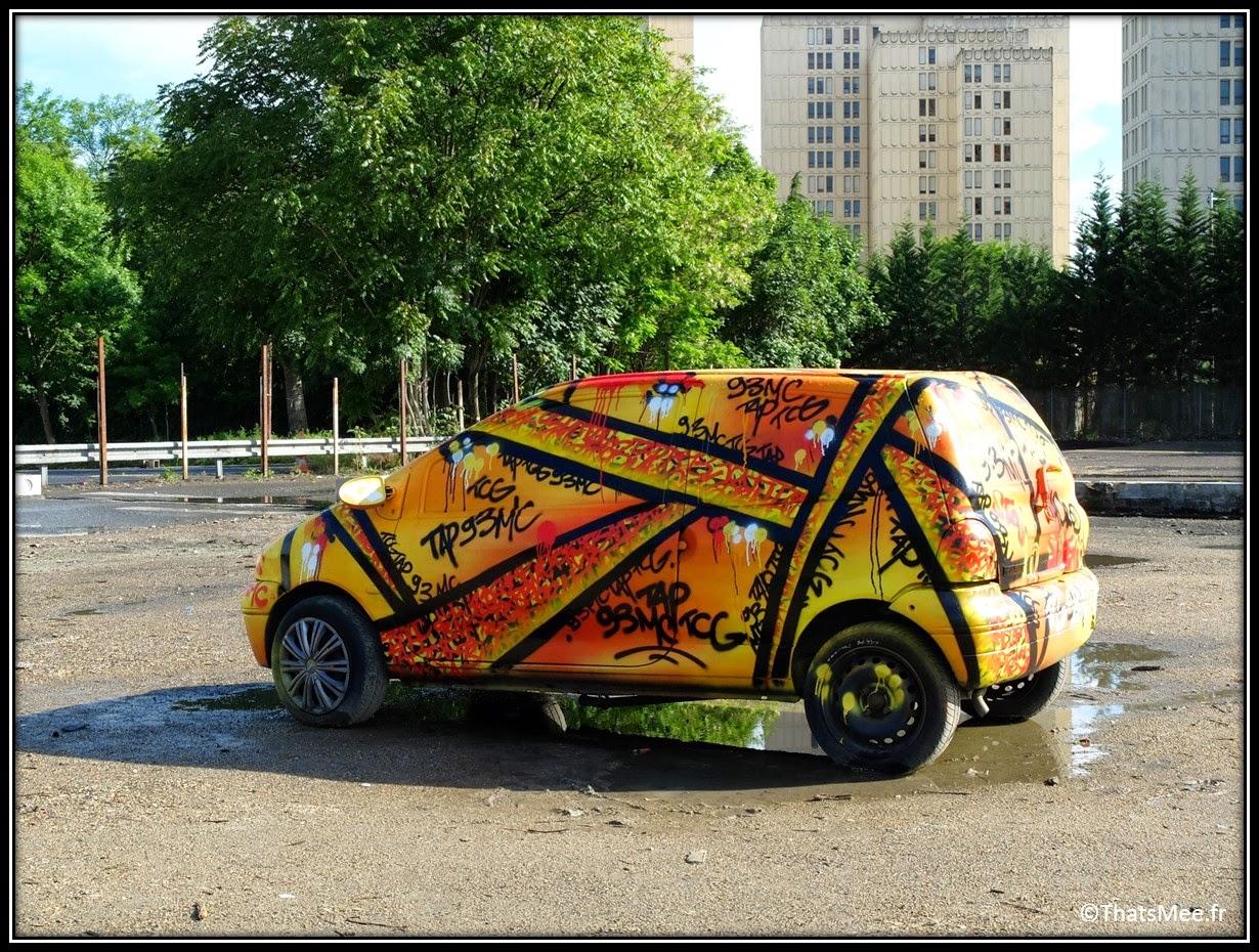 Festival Street Art In Situ Fort d'Aubervilliers Pimp My ride graffs sur Renault Twingo