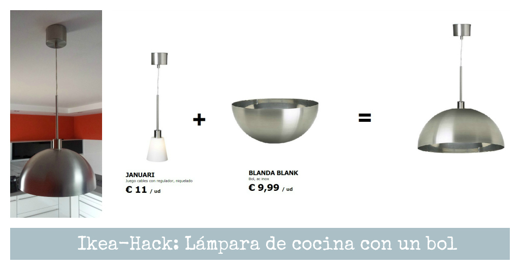 Personalizando piezas de ikea l mparas handbox craft - Lamparas cocina ikea ...