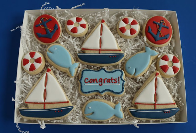 large nautical cookie gift box