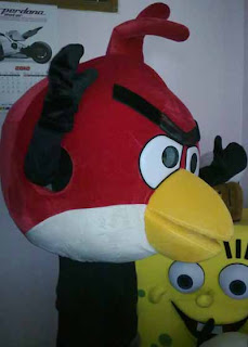 red bird karakter angry bird ready stock