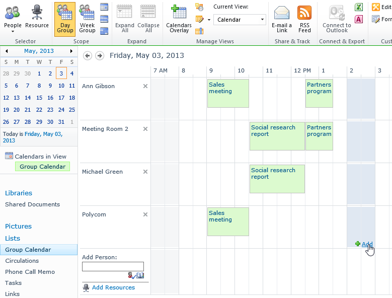 Weekly Calendar View Sharepoint : Reservation of resources in sharepoint and