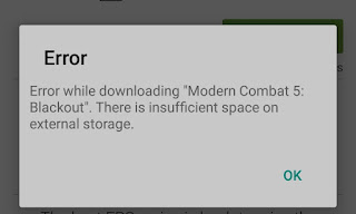 cara perbaiki insufficient storage