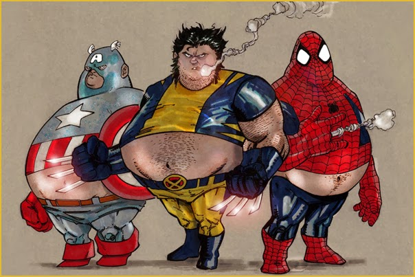 Fat Marvel Heroes
