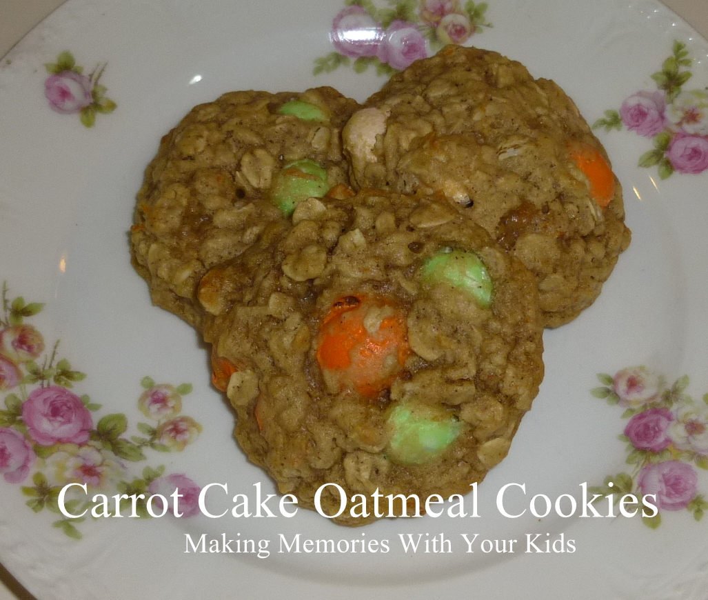 Carrot Cake Oatmeal Cookies with Carrot Cake M&Ms - Making Memories ...