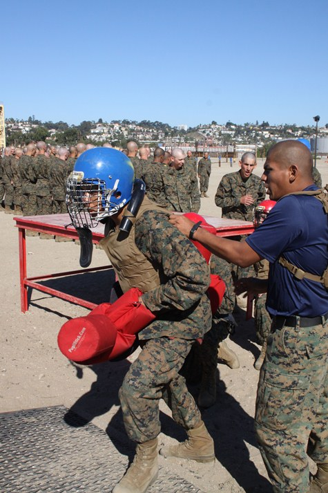 Us marine corps close combat manual recruits learn hand to hand this is organized were learning how to use offense and defense said recruit ryan p ogletree plt 3210 co i sciox Images