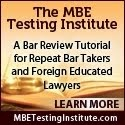 The MBE & UBE Testing Institute