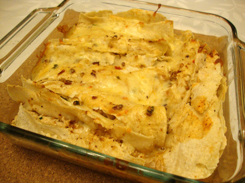 Here is our Lighter Chicken Enchiladas from Everyday Food Light. I had ...
