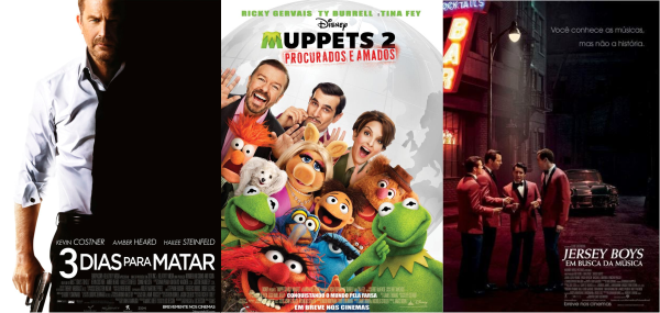 Estreias da semana (26/06): Muppets 2: Procurados e Amados, 3 Dias para Matar, Jersey Boys e Amazônia