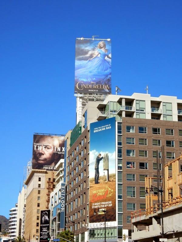 Cinderella movie billboard
