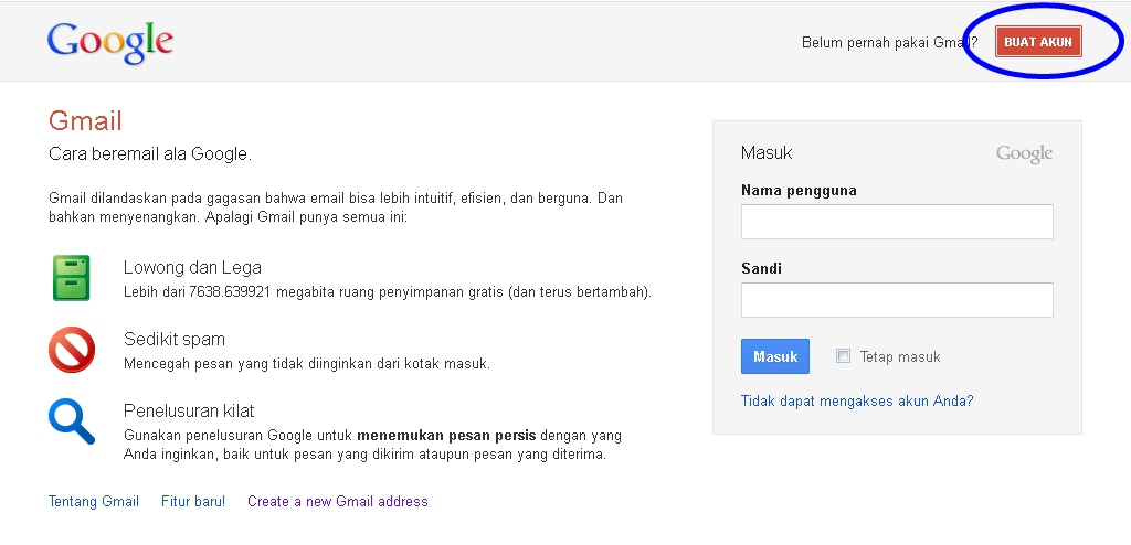 Cara Membuat E-mail Gmail di Google [.doc] [.pdf