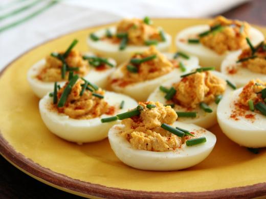 Home Skillet - Cooking Blog: Smoky Deviled Eggs