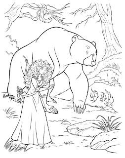 Jogo de Pintar Merida e Urso