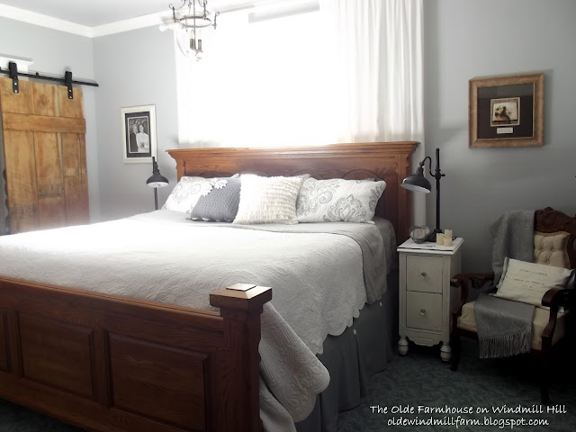 The Olde Farmhouse On Windmill Hill Gray And White Master Bedroom Reveal